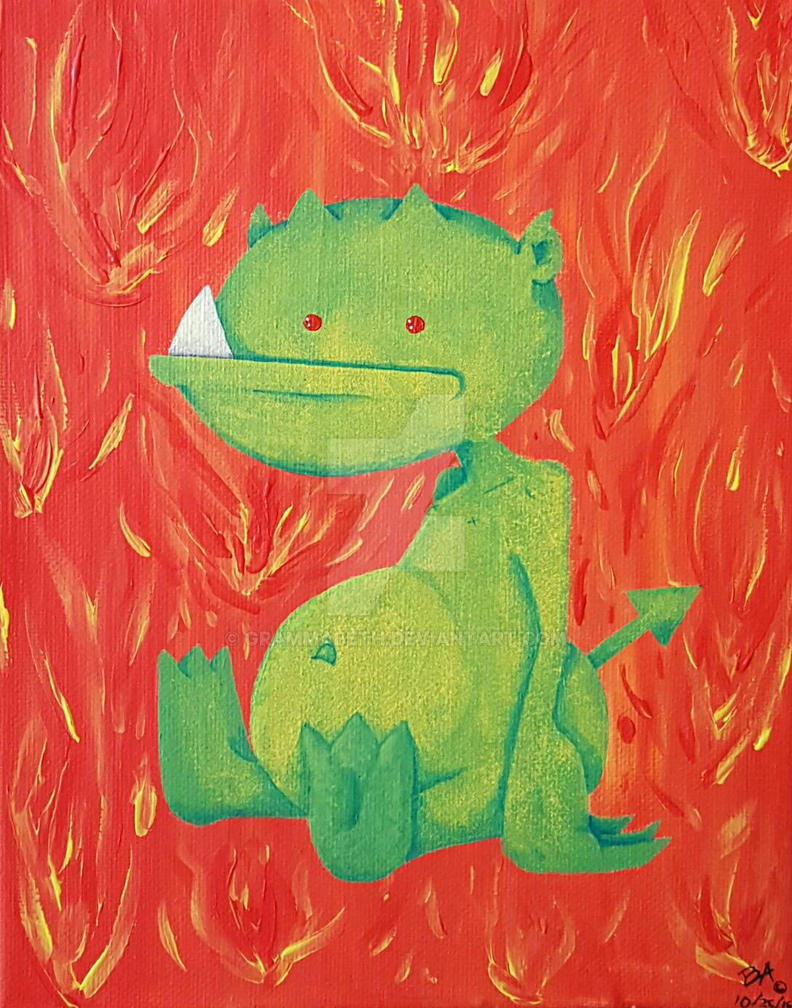 Little Green Demon Baby by grammabeth