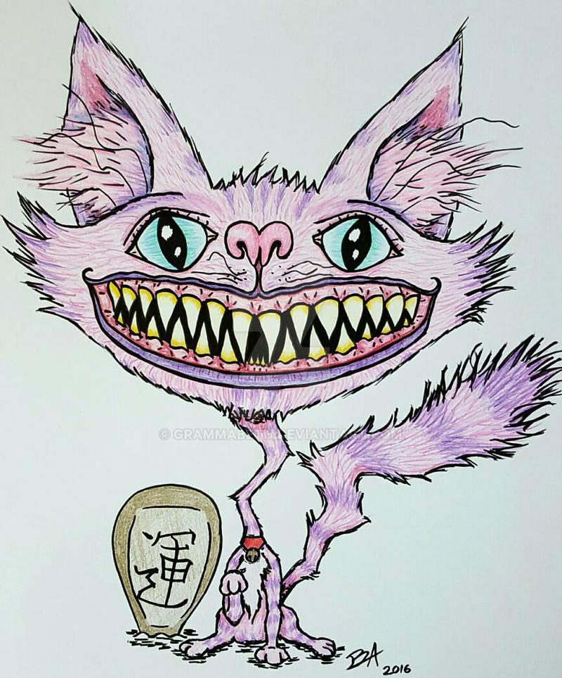 Feaky Maneki-Neko Cheshire Cat  by grammabeth