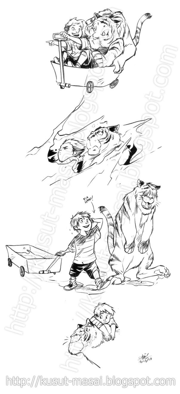 Calvin and Hobbes by Celestial4ever