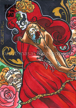 Babes of the Dead sketch card preview by Celestial4ever
