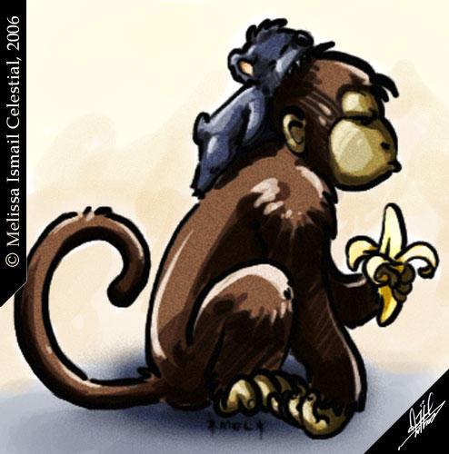 Monkey and Koala 3 by Celestial4ever on deviantART