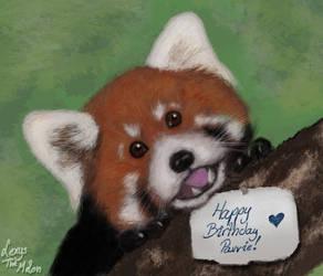 Red Panda (birthday card for my friend) by RegaSevenfold