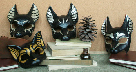 Egyptian Anubis Masks by nondecaf