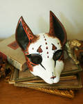 Fancy Brown and White Fox Mask