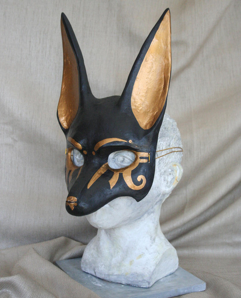 Long eared Anubis Jackal Mask by nondecaf