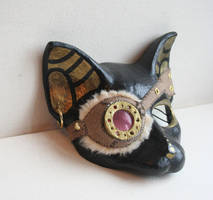 SteamPunk Cat Mask by nondecaf