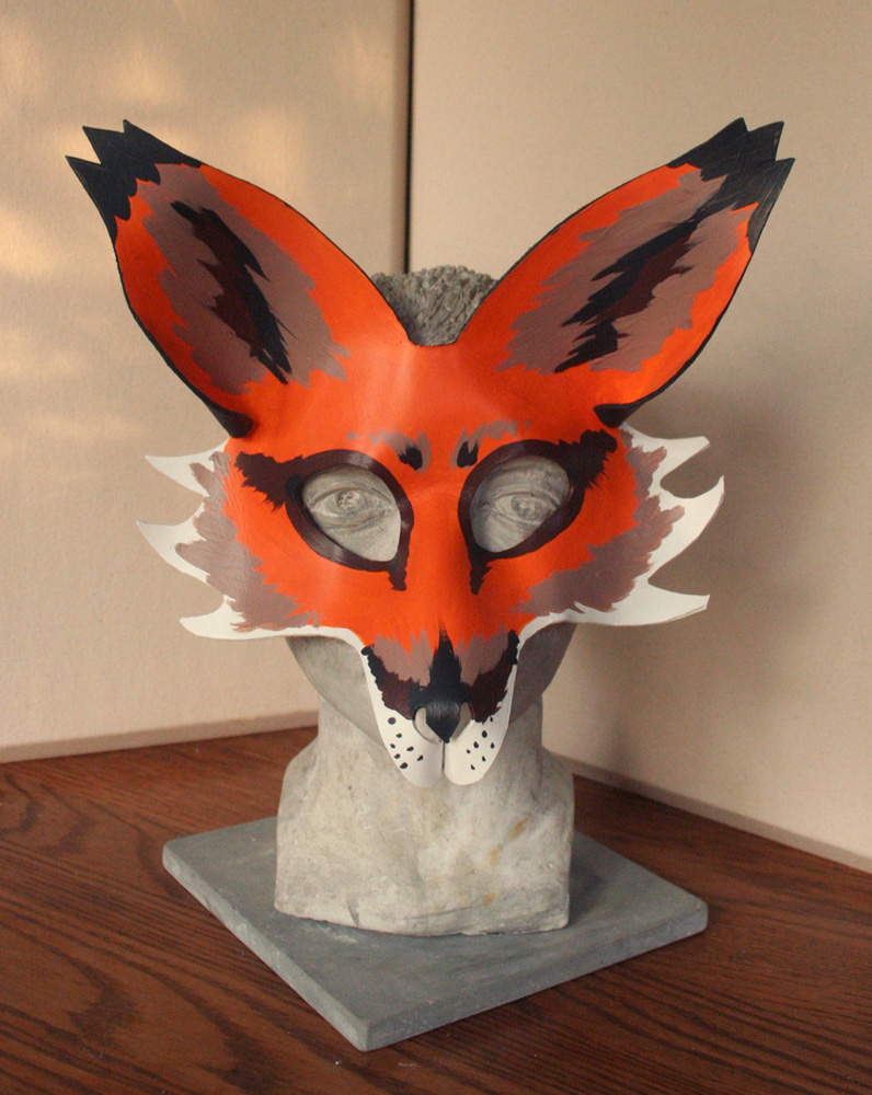 Full Face Leather Fox Mask
