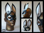 Harlequin Rabbit Mask
