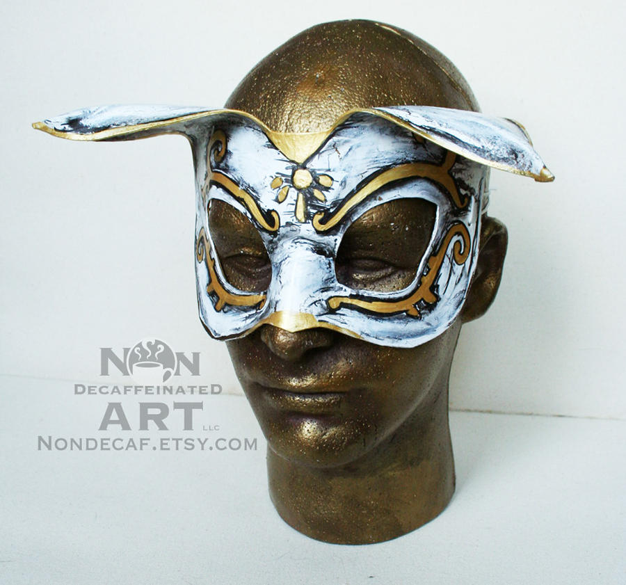 bioshock splicer style cat leather costume mask by