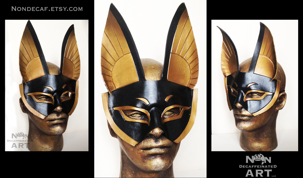 Dark Gold Anubis mask by nondecaf