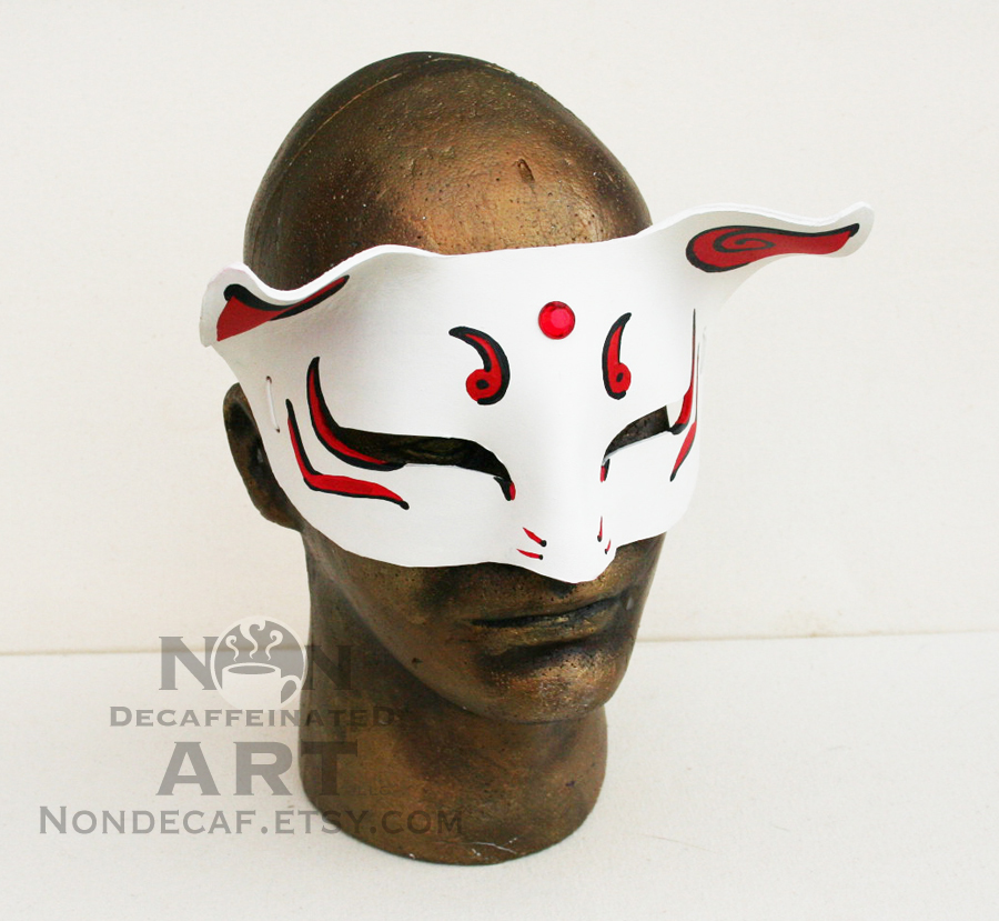 Anime Beast Mask with Red Gem by nondecaf