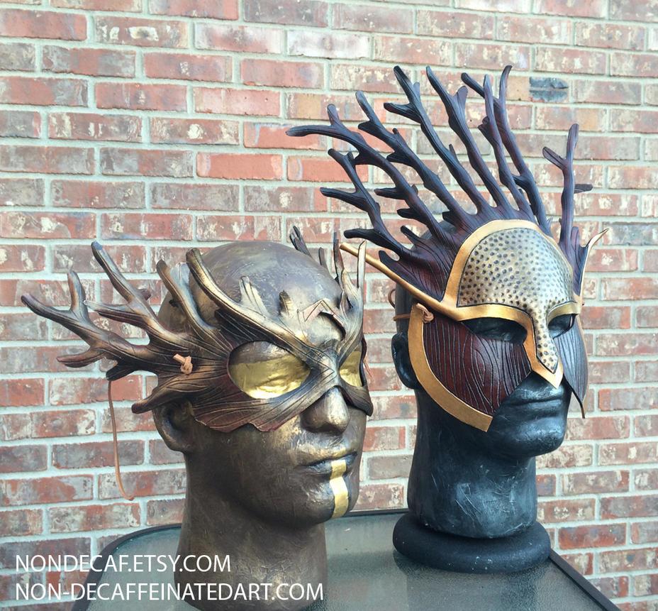 Tree Spirit Druid masks by nondecaf