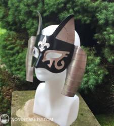 Bastet Mask with Fancy Flur-de-lis accents 01