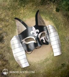 Bastet Mask with Fancy Flur-de-lis accents 02