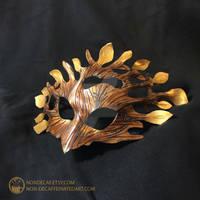 Leather Fantasy Mask LARP costume