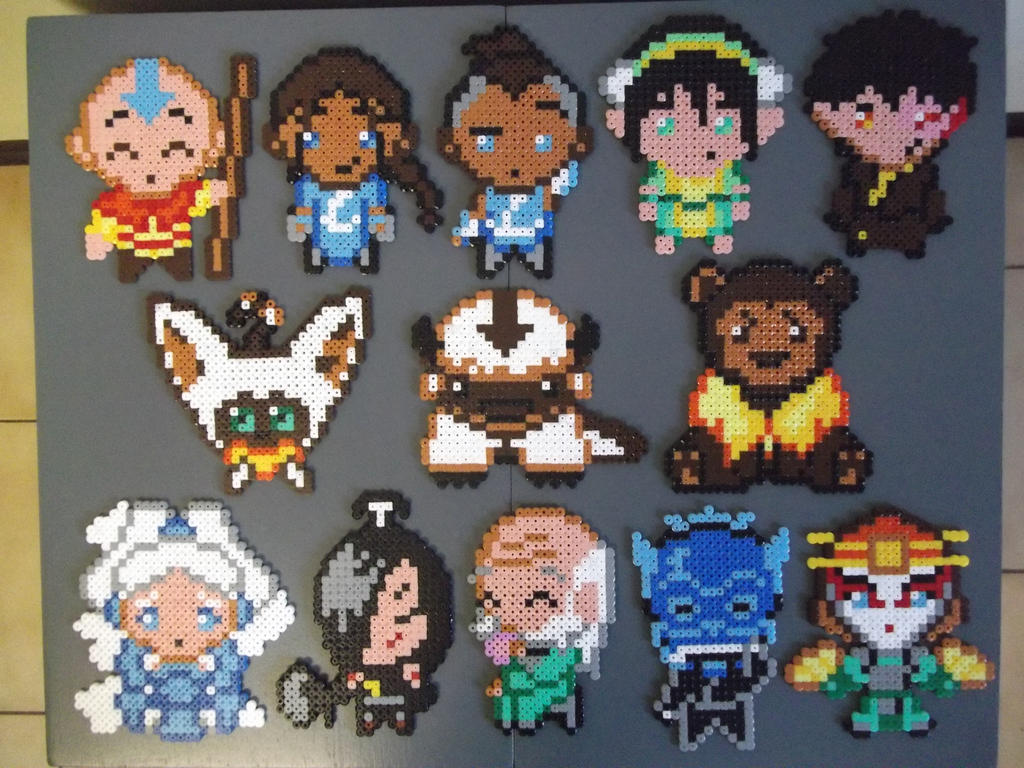 Avatar The Last Airbender set made of beads by capricornc5
