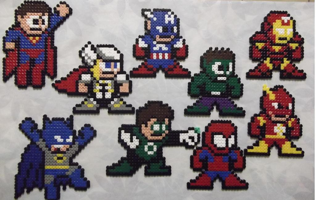 Superhero iron man from marvels avengers perler bead ...   Superhero Fuse