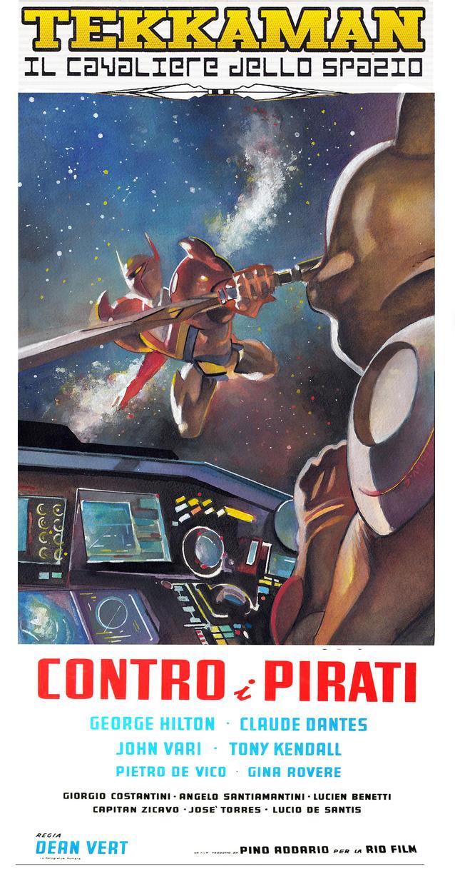 TEKKAMAN Space Warrior RETRO poster by Gedamo