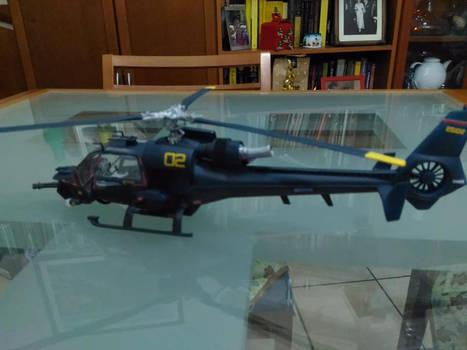 Blue Thunder Model Kit Painted 3
