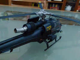 Blue Thunder Model Kit Painted 4