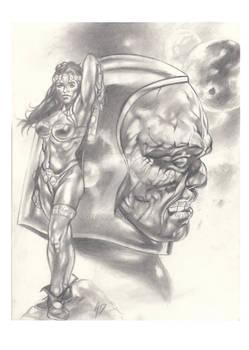 Darkseid e Big BARDA Preliminare study