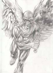 Katar Hol Hawkman Pencil study