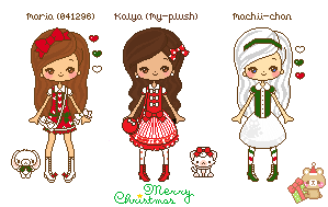 Christmas dolls by 041296