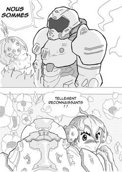 Doom guy Hugs Corona-chan