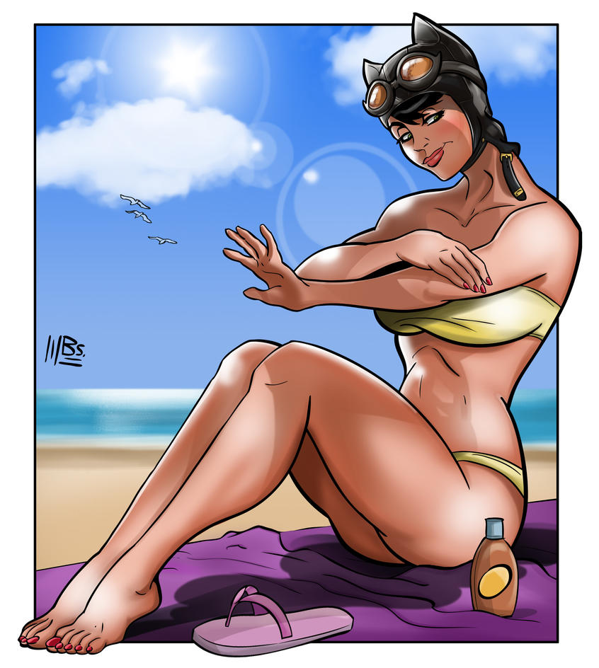 Cat at the beach by B-STRIPES