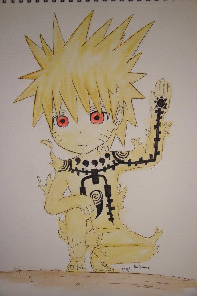 Chibi Naruto Kyuubi Mode by CDaveRamirez on DeviantArt
