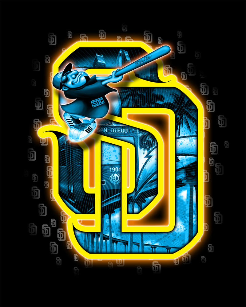 Sd San DIego Gangster logo with Padres fool by OgJimrock
