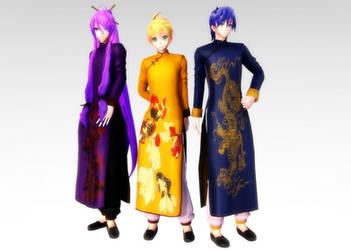 TDA China Kaito, Gakupo and Len DL by Skary66