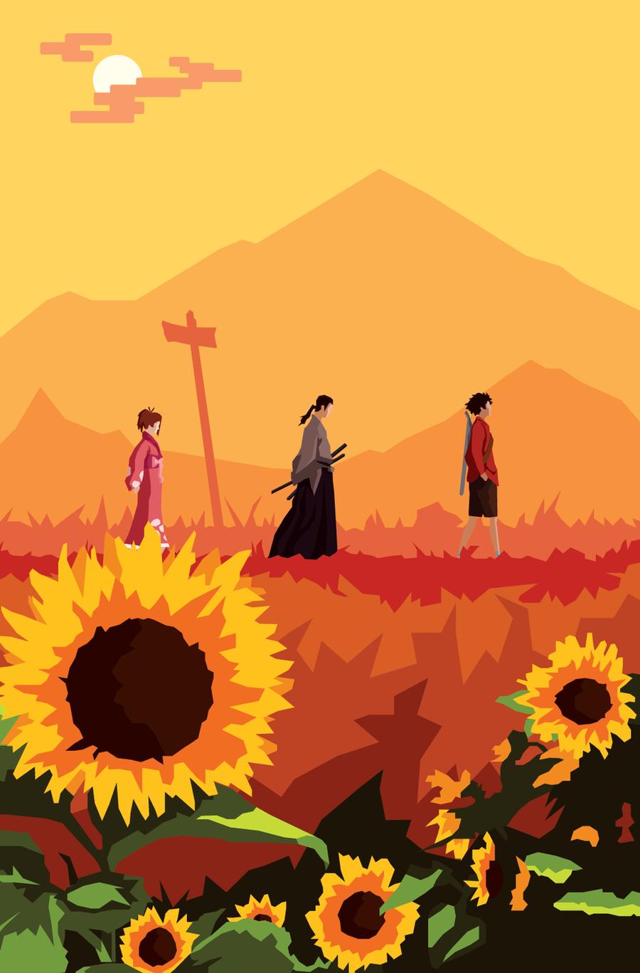 journey to sunflower samurai by firecouch on deviantart