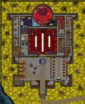 DnD Grid Map - Castle Keep W/Mage circle.