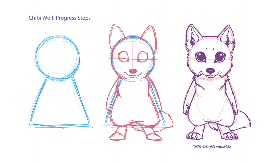 Little tutorial... Chibi Wolf! by Wyn-de-Weynilard