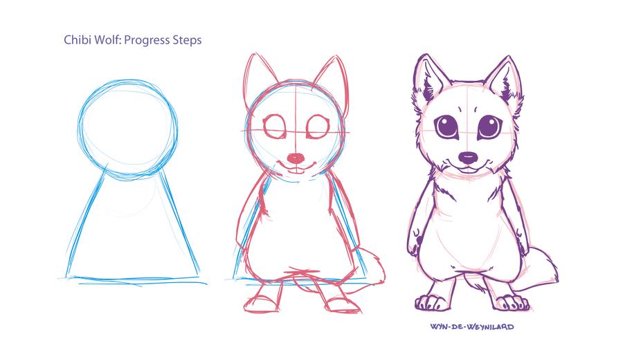 Little tutorial... Chibi Wolf! by Wyn-de-Weynilard