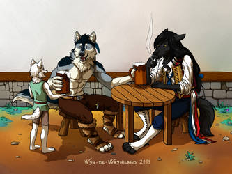 Time to relax at the inn of Wolf Who Howls! by Wyn-de-Weynilard