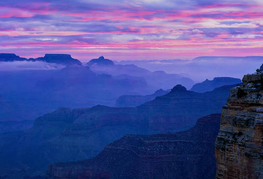 Grand Canyon Dawn, Hopi Pt., Arizona
