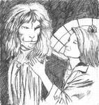 sketch Vincent and  Catherine by TheContemplativeMonk