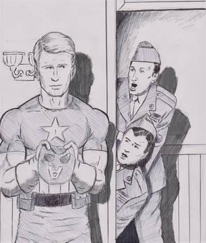 Abbott and Costello meet Captain America