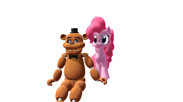 Cinco noches con pinkie y freddy s by mmdcote on deviantart