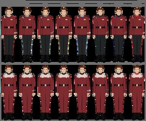 Star Trek - 'Monster Maroon' Uniforms (2278-2327)