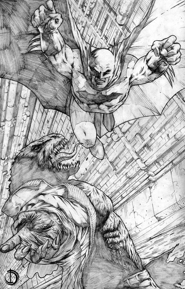 Batman pin-up by santiagocomics