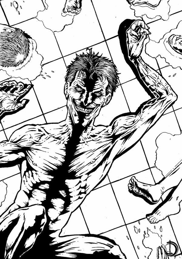 the Joker ink by santiagocomics
