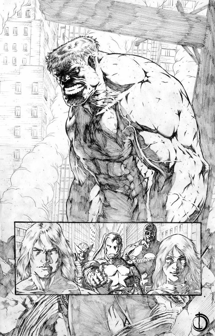 Dark Avengers page 1 by santiagocomics