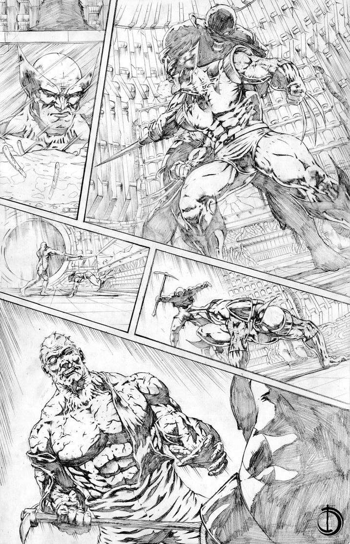 Wolverine page 4 by santiagocomics