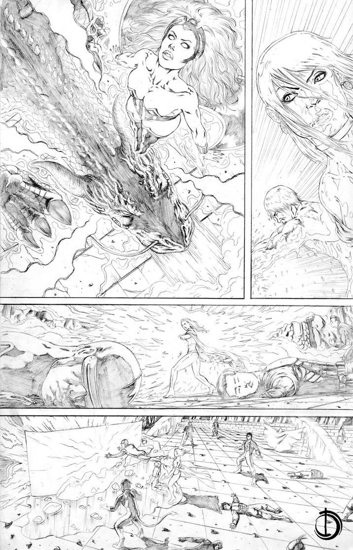 X-Men Vs Atlas 9 by santiagocomics
