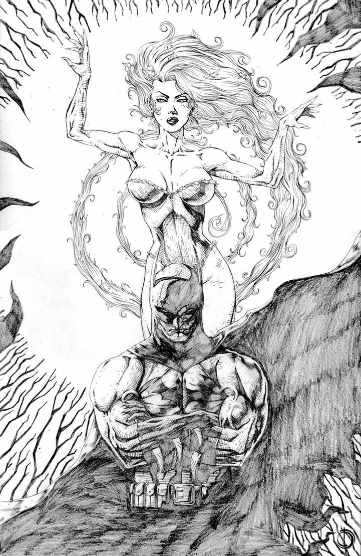 Batman Poison Yvi by santiagocomics