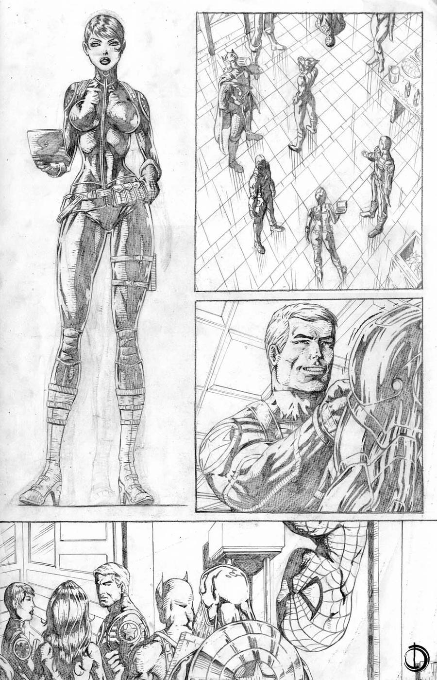 Avengers page11 by santiagocomics