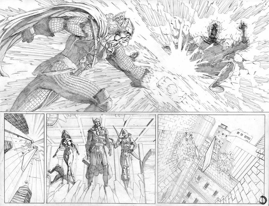 Avengers page13-14 by santiagocomics